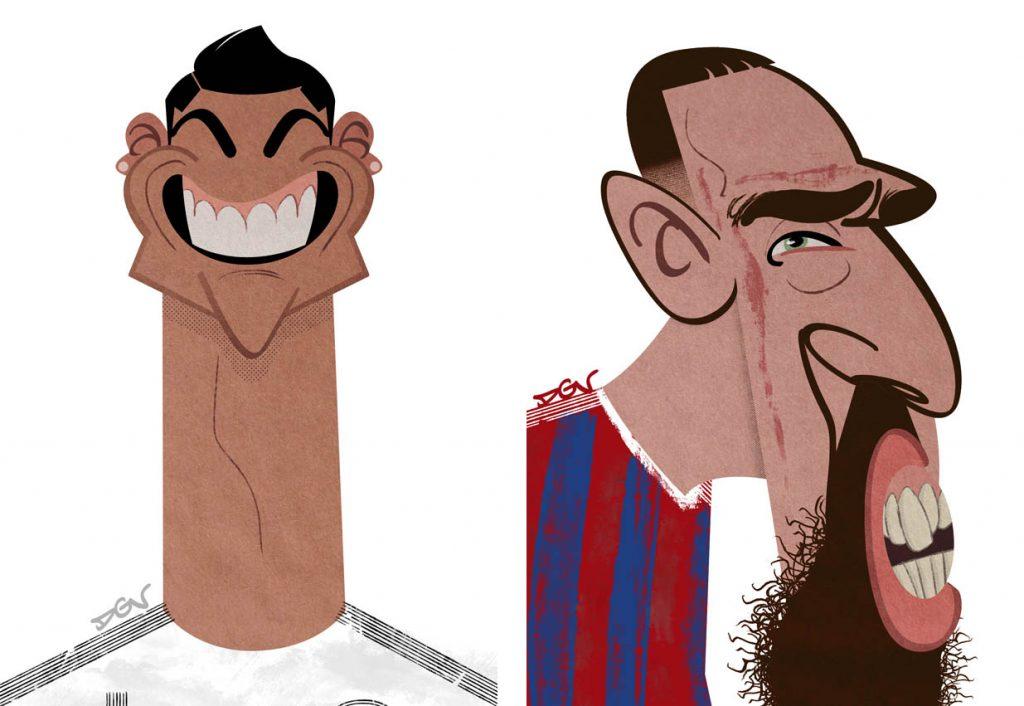 Dos caricaturas de DGV