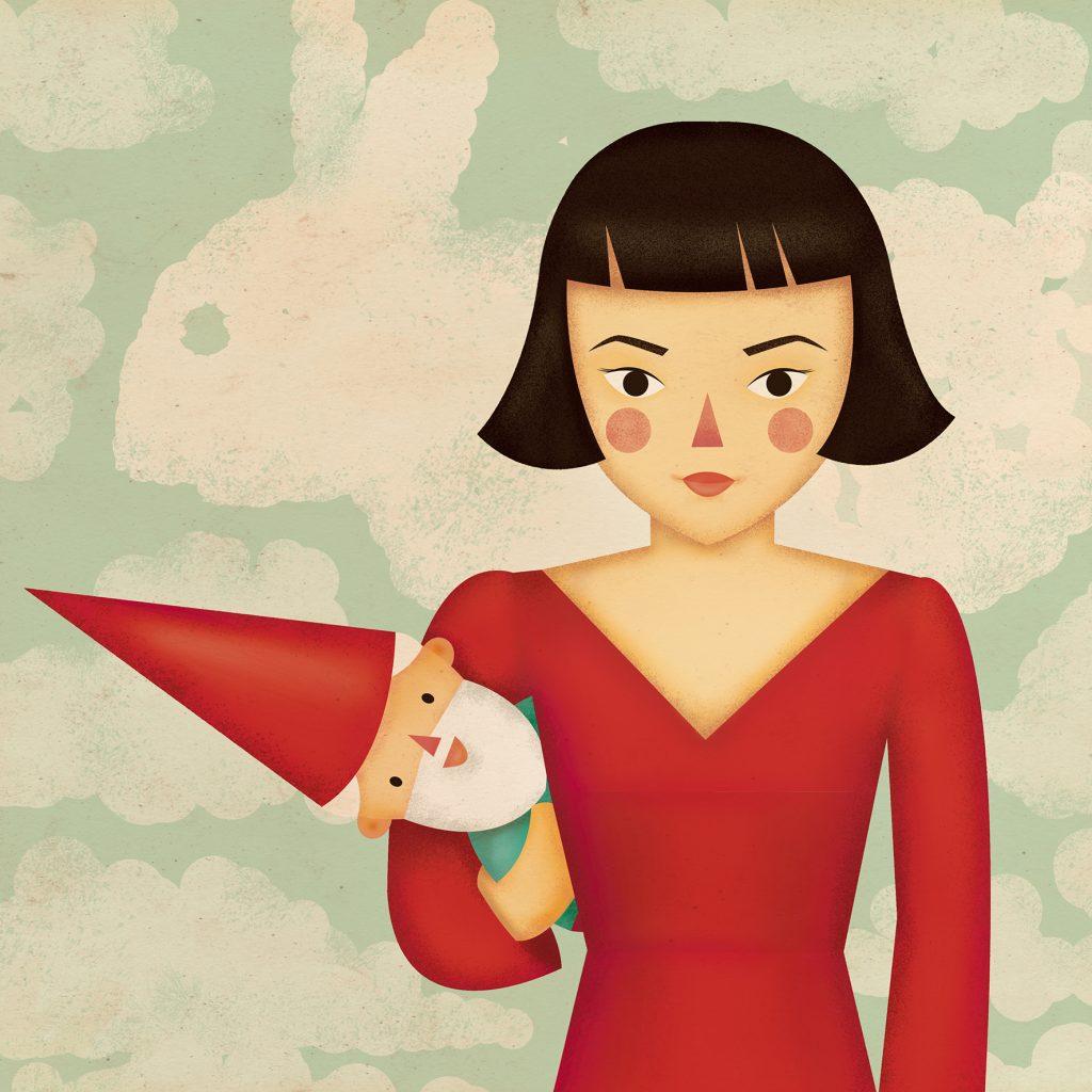 Amelie, una de las ilustraciones de Natalia de Frutos