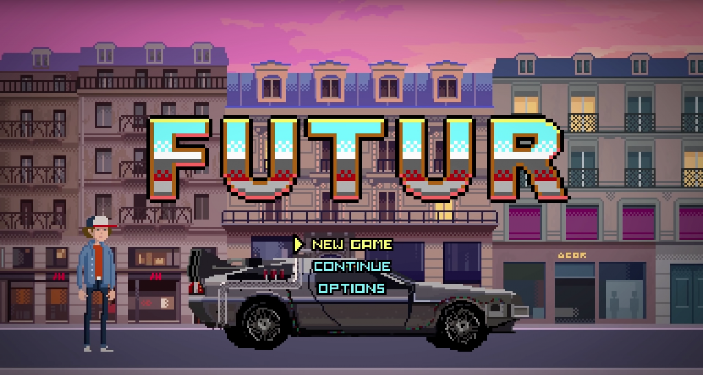 Inicio del videoclip de pixel art 'Future' de Sept