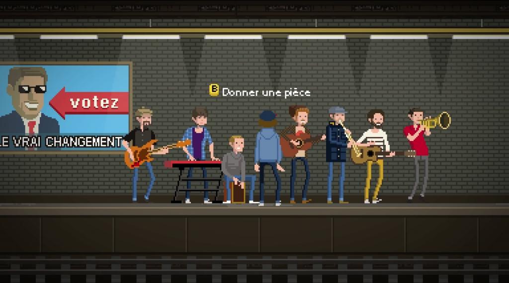 Banda de musica en el videoclip 'Futur'