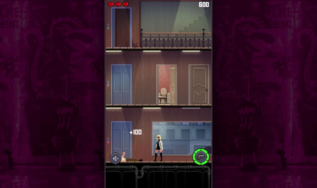 La protagonista de Atomic Blonde en el videojuego de pixel art