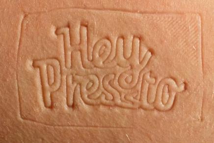 HeyPressto, stop motion y hendido sobre piel humana