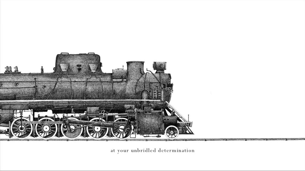 Ilustracion de un tren por Temujin Doran