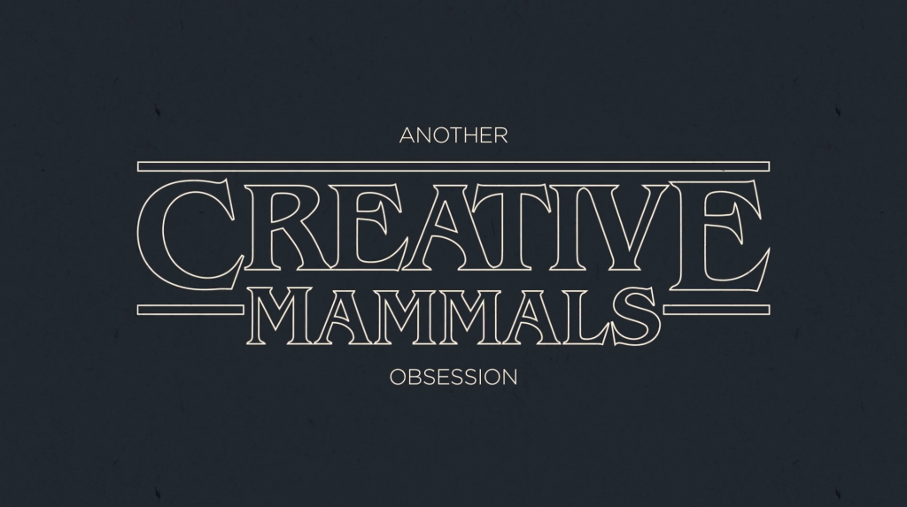 Creative Mammals con la tipografia de Stranger Things