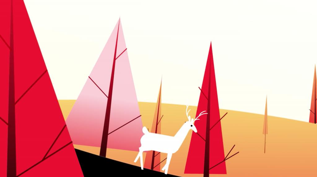 Una de las escenas de la animacion de Poliéster Studio sobre qué es ser canadiense