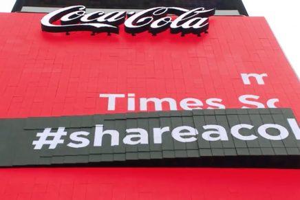 Coca-Cola instala una pantalla 3D en Times Square