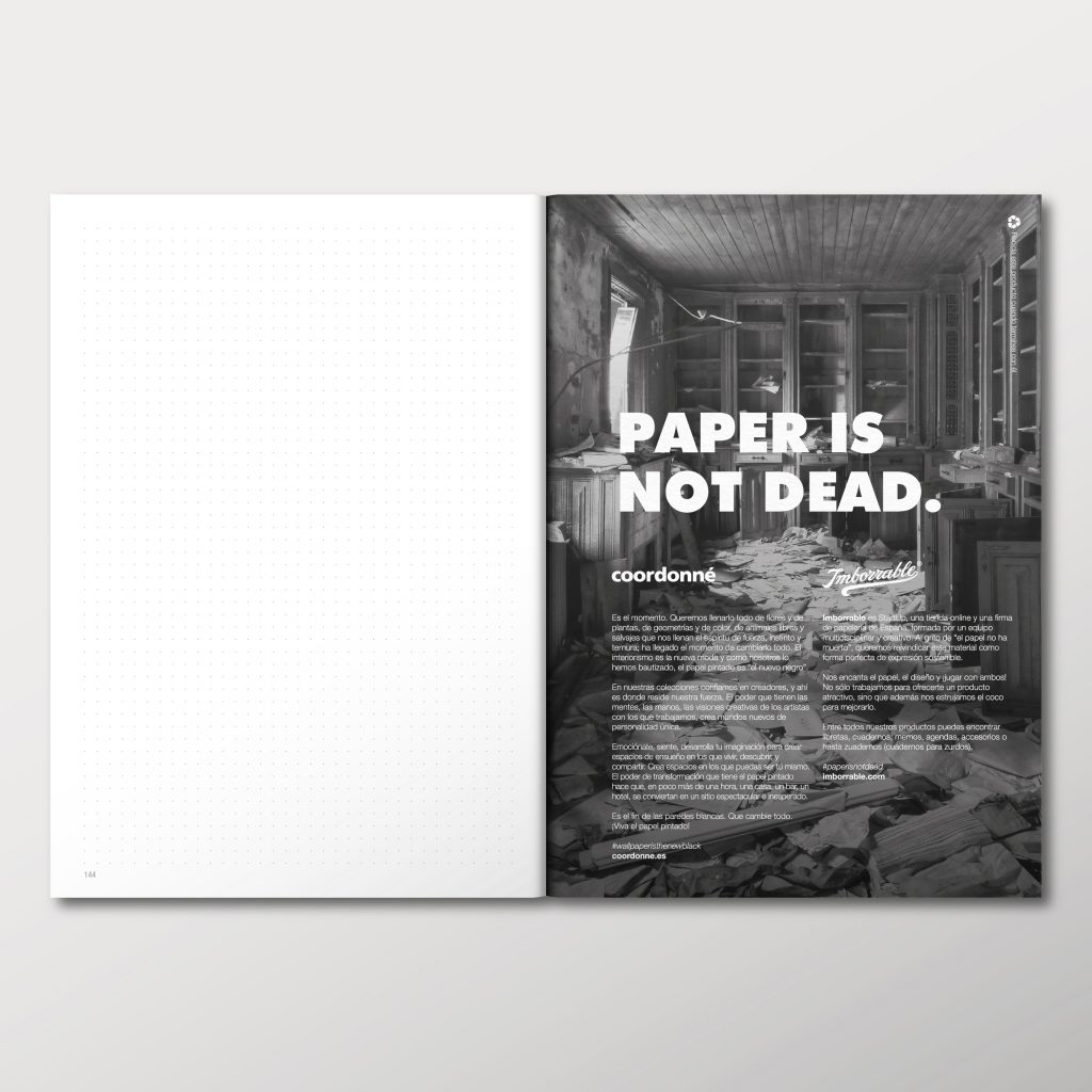 'Paper is not dead' reivindica Imborrable
