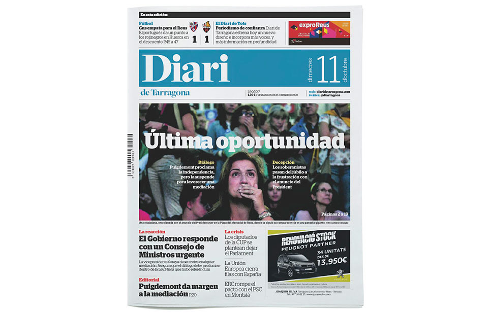 Diari Tarragona rediseno portada 1