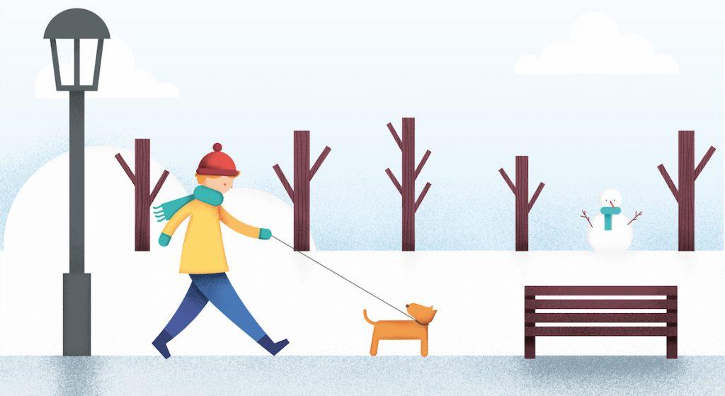 Ilustracion de enero en el planning de UNICEF, por Natalia de Frutos