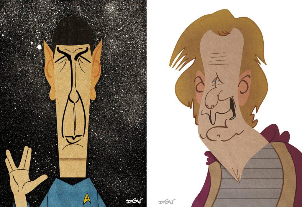 Caricaturas realizadas por DGV