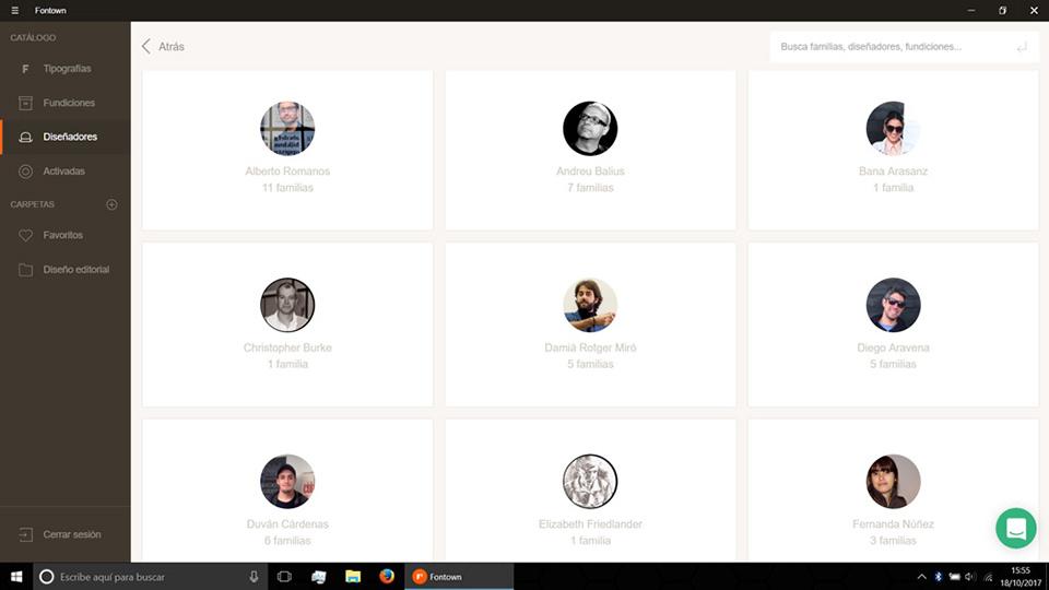 Fontown Windows Disenadores seleccion