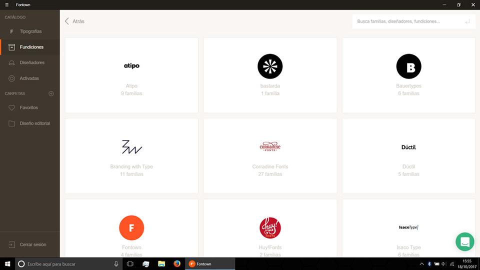 Fontown Windows Fundiciones seleccion