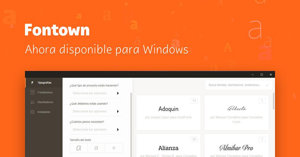 Probamos la nueva versión de Fontown ya disponible para Windows