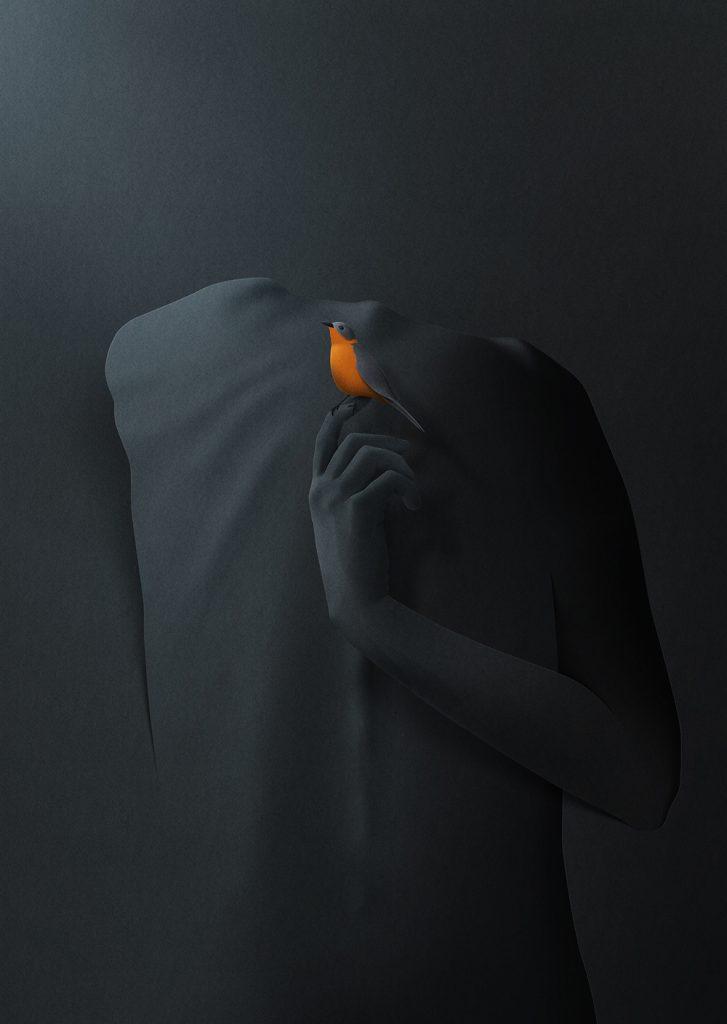 Ilustracion de la serie I found my silence de Eiko Ojala