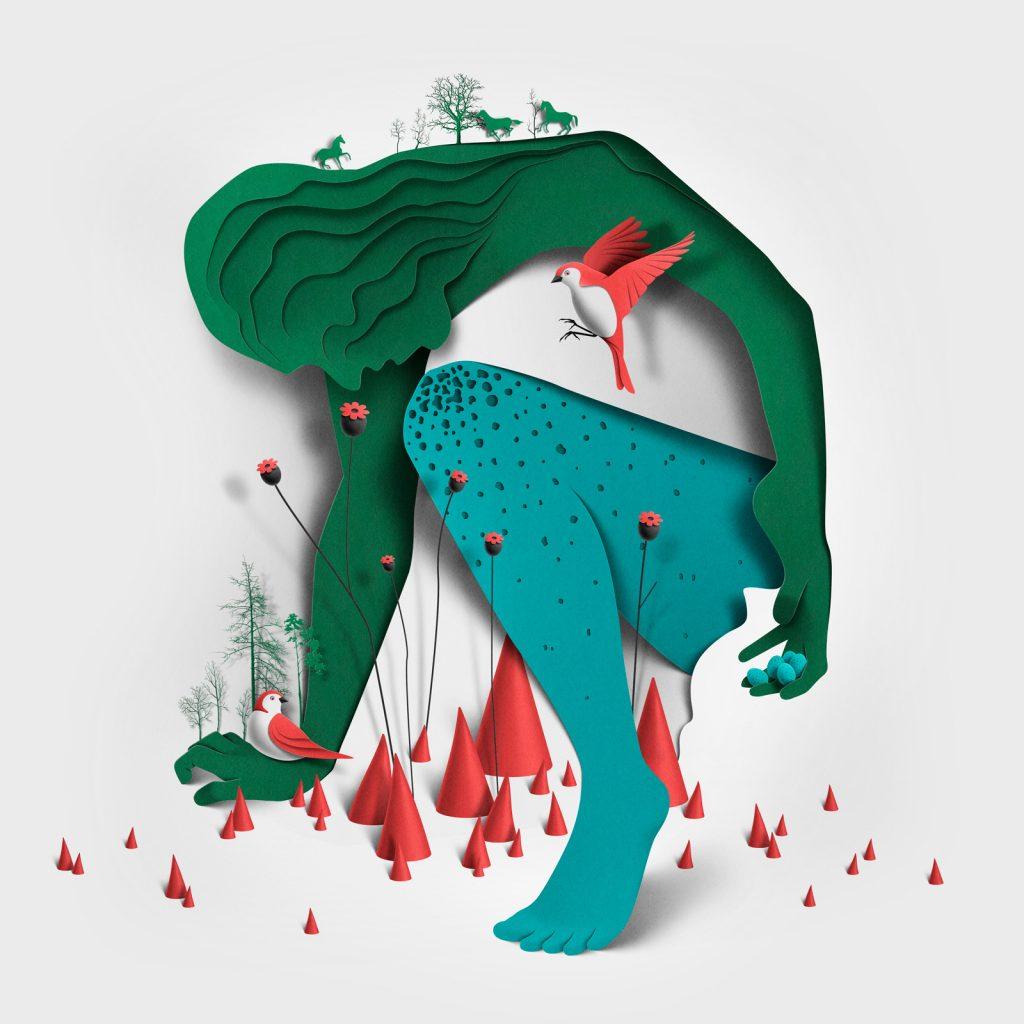 Ilustracion de la serie Myths de Eiko Ojala