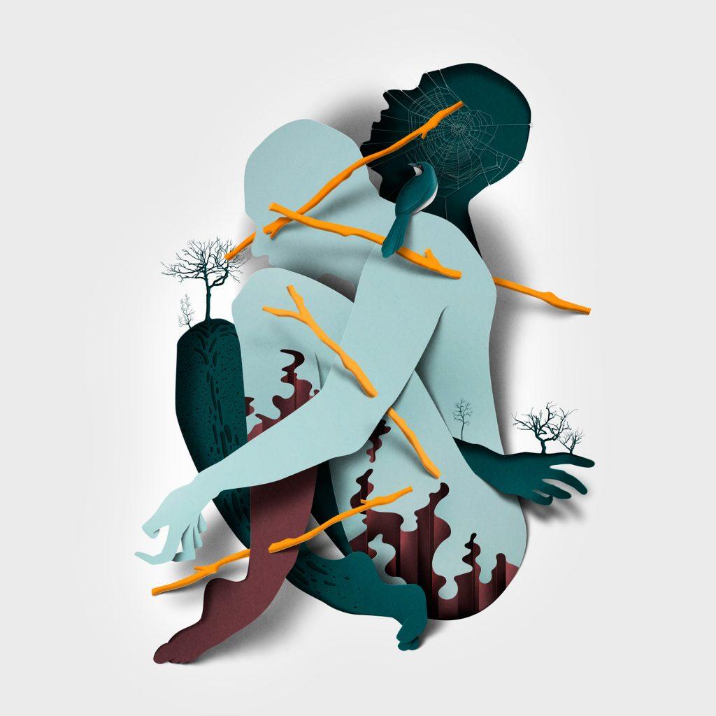 Ilustracion de la serie Myths de Eiko Ojala 3