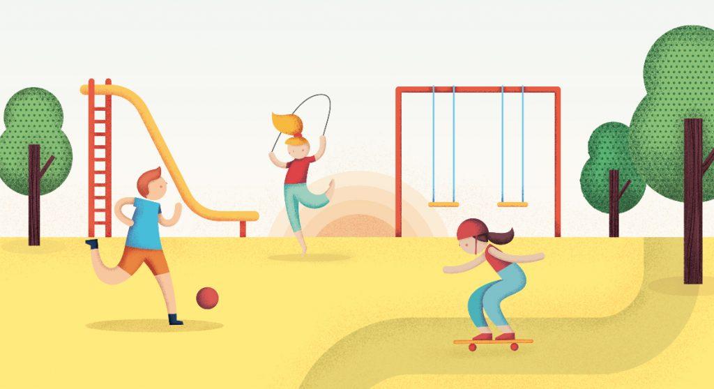 Ilustracion de junio en el planning de UNICEF, por Natalia de Frutos