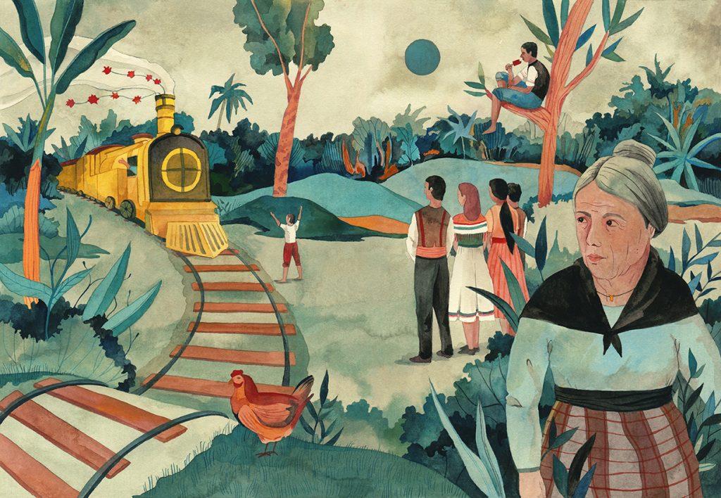 Una de las ilustraciones de Luisa Rivera