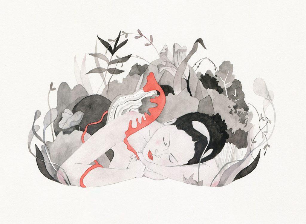 'Human Island', ilustracion de Luisa Rivera