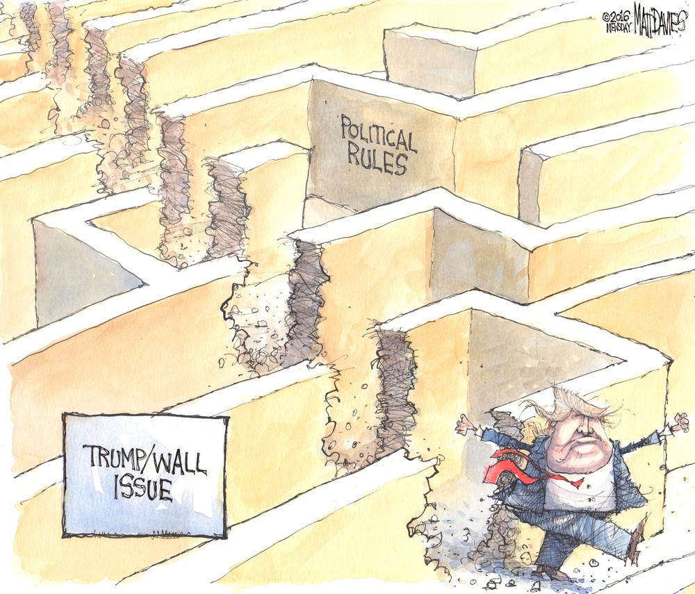 Caricatura sobre Trump de Matt Davies