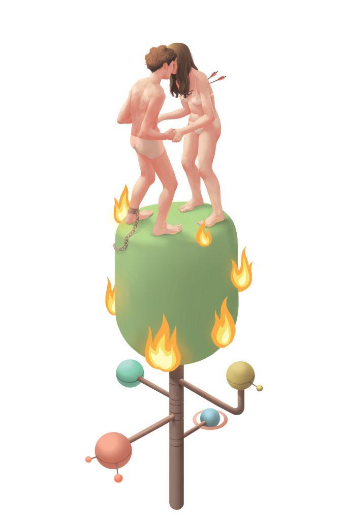 Oxytocin, ilustracion de Laura Wächter