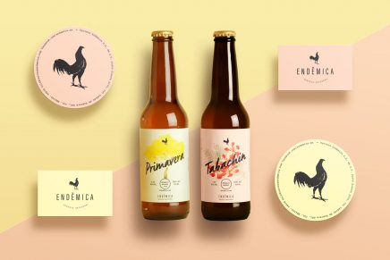 Caligrafía y acuarela para el diseño de etiqueta de cerveza artesanal mexicana más colorida