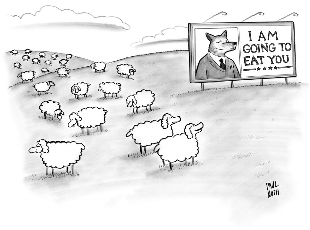 Caricatura de Paul Noth para el New Yorker