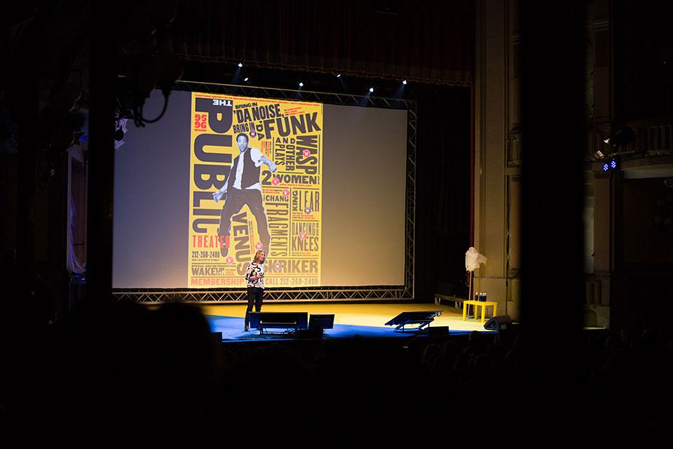 Blanc Festival Paula Scher Public Theater
