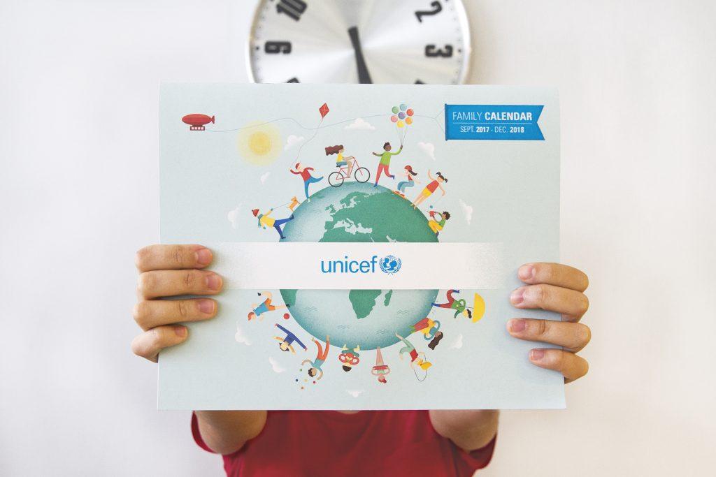 Portada del planning de UNICEF, ilustrado por Natalia de Frutos