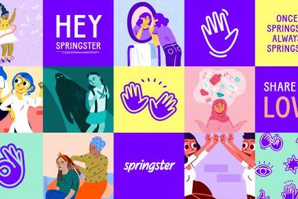 La ilustración solidaria de Design Studio compone la identidad de Springster
