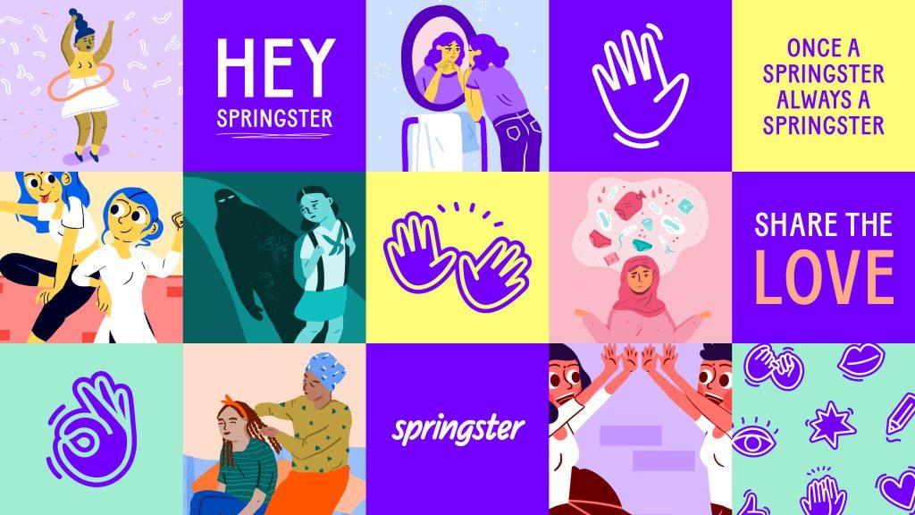 Collage de ilustraciones de Springster