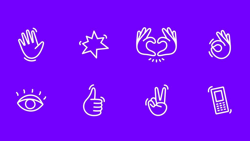 Varios iconos del proyecto Springster