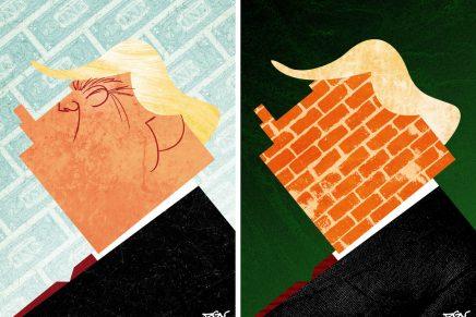 DGV se suma a la tendencia de las caricaturas sobre Donald Trump