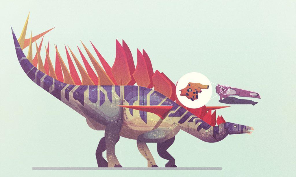 Uno de los dinosaurios de James Gilleard