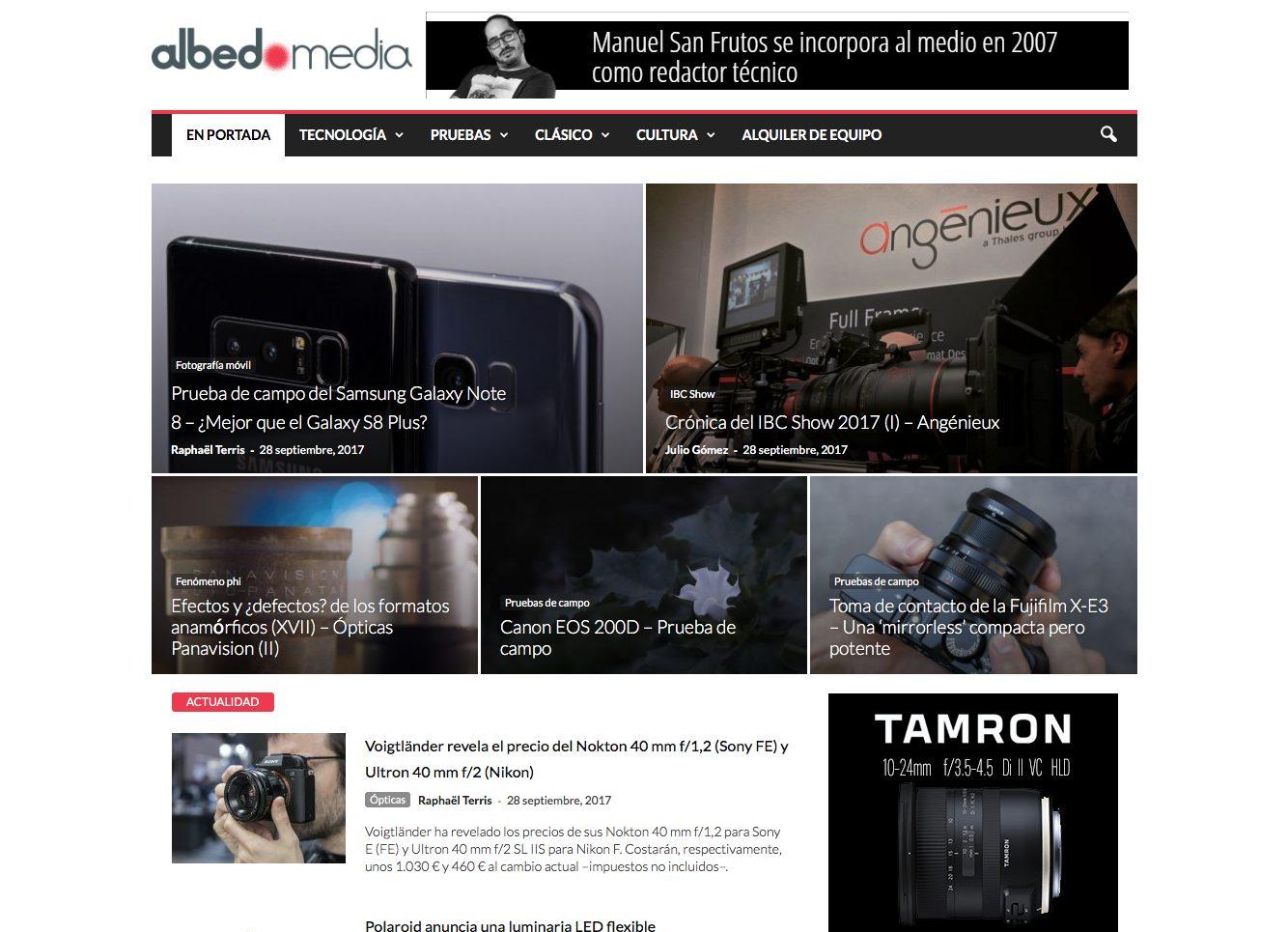 webs sobre fotografía: albedomedia.com