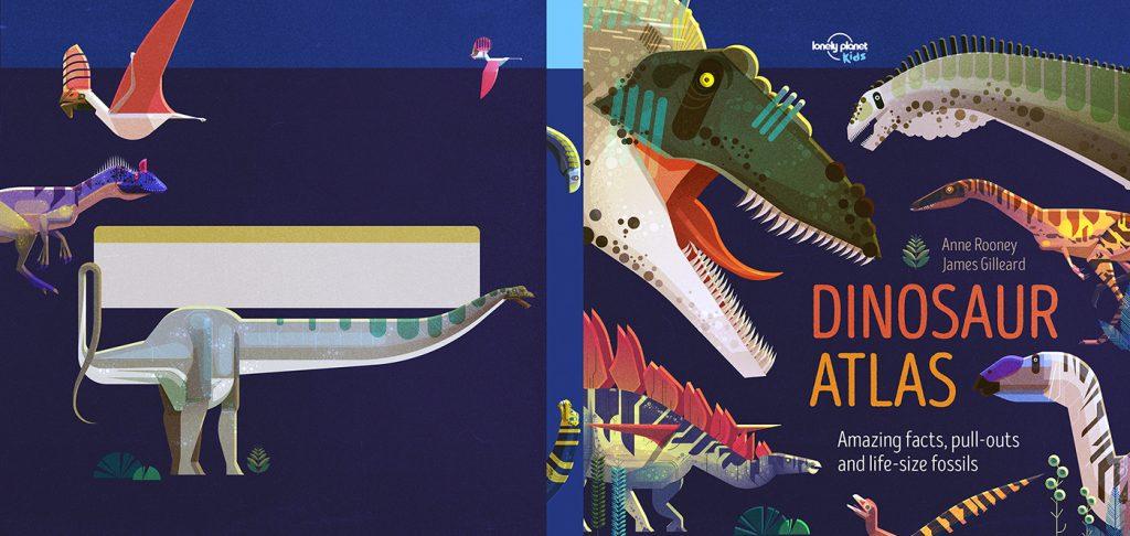 Portada y contraportada para el Dinosaur Atlas