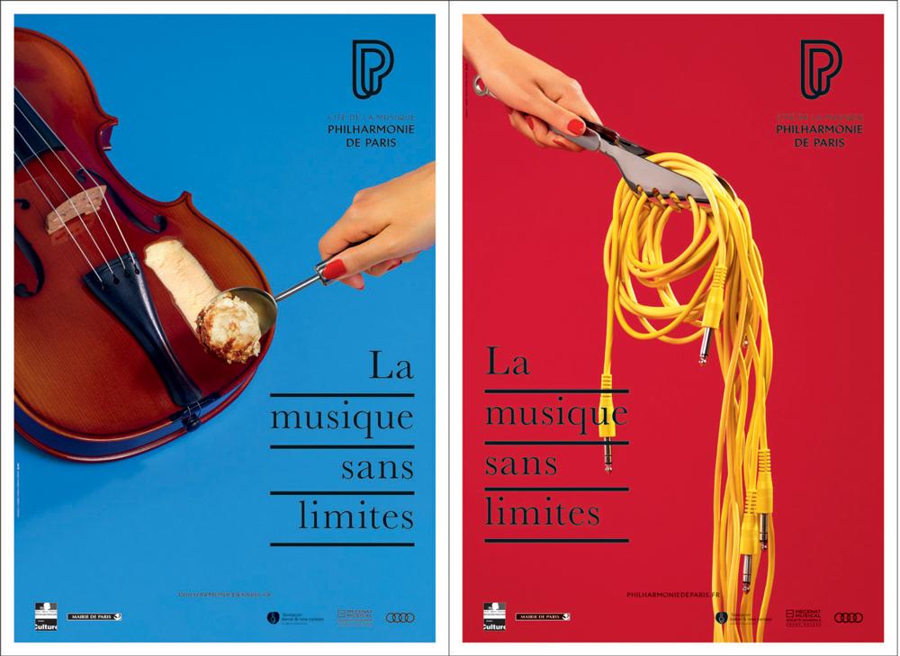 La agencia Betc diseña los carteles de la Filarmónica de París