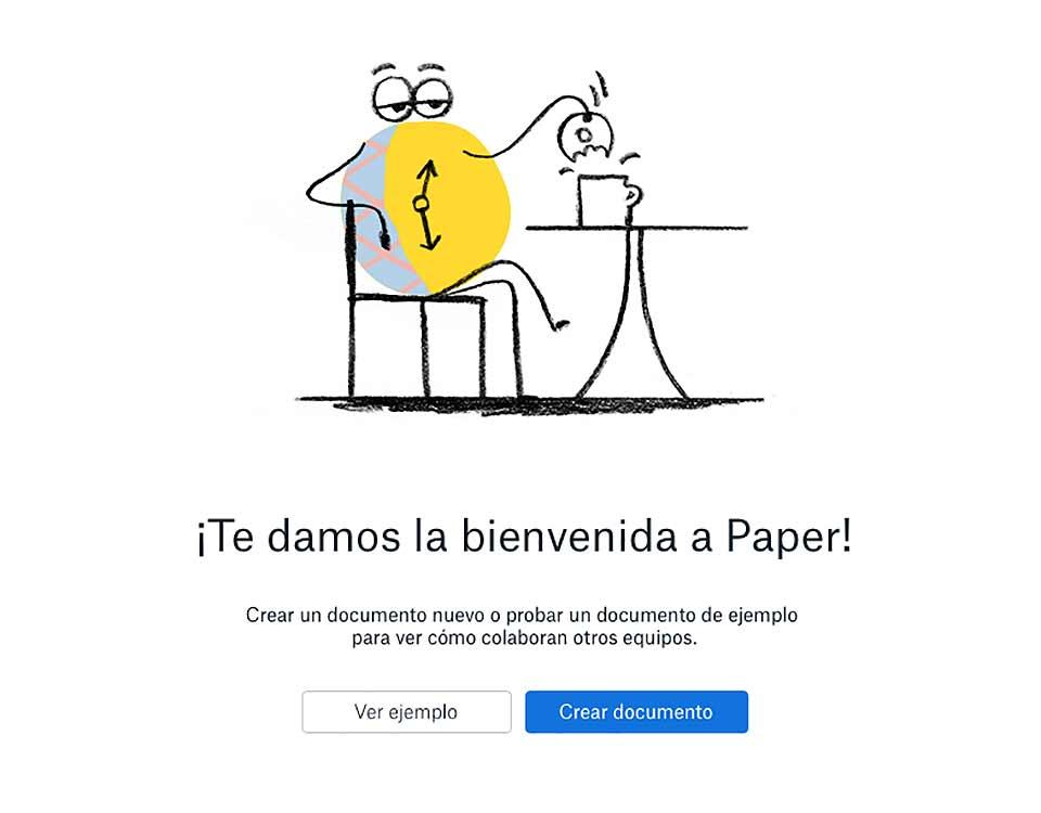 Ilustración del rebranding de dropbox 2017