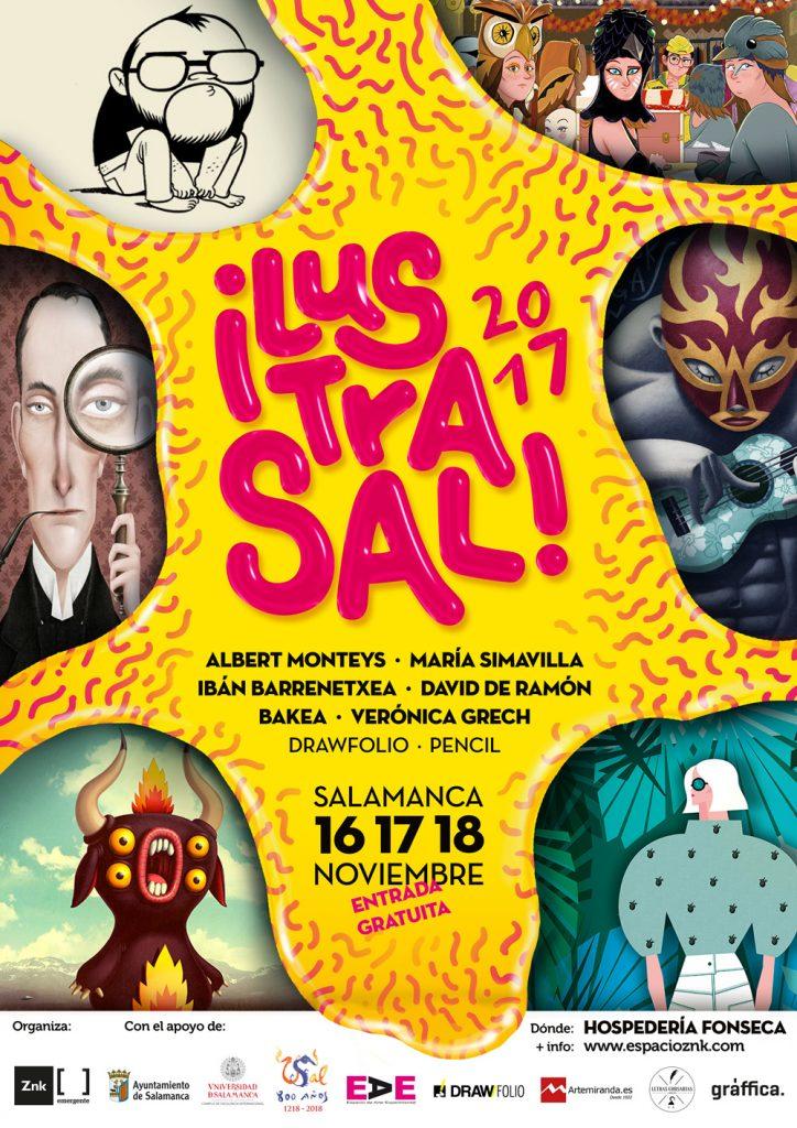 Ilustrasal! 2017, II Jornadas Nacionales de Ilustración en Salamanca - cartel