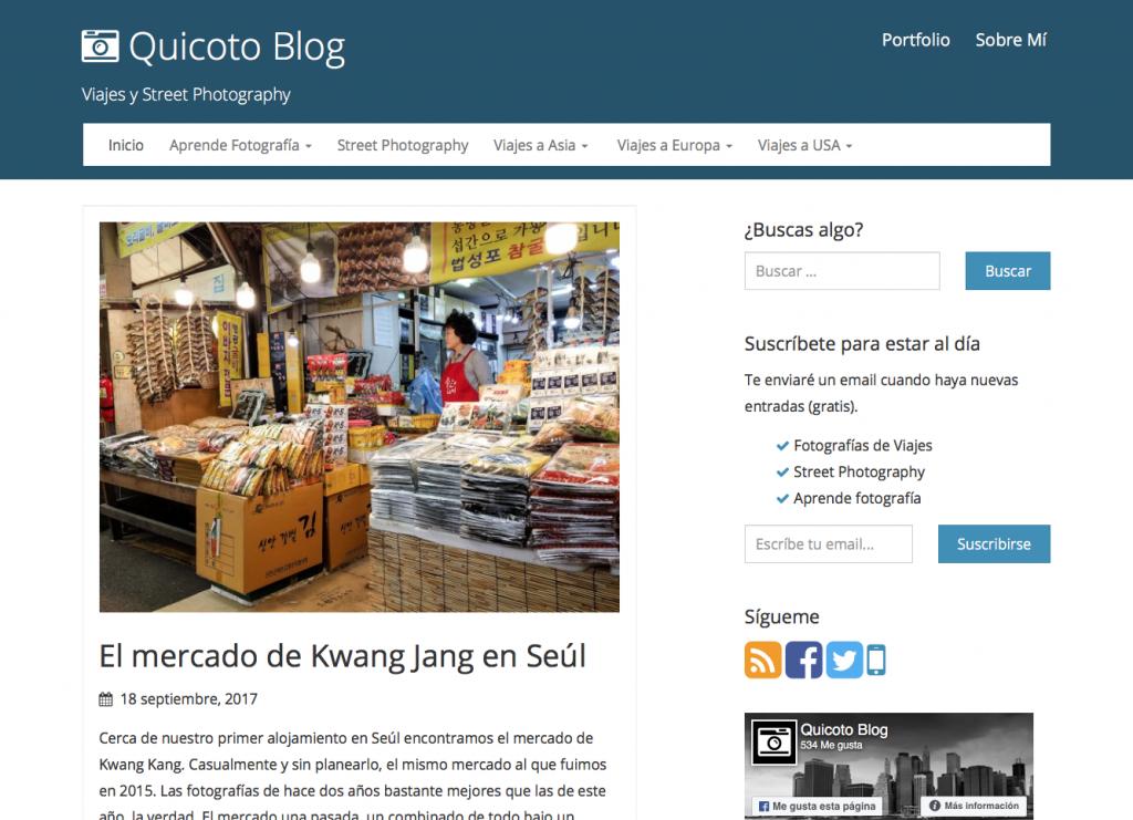 webs sobre fotografía quicoto.com