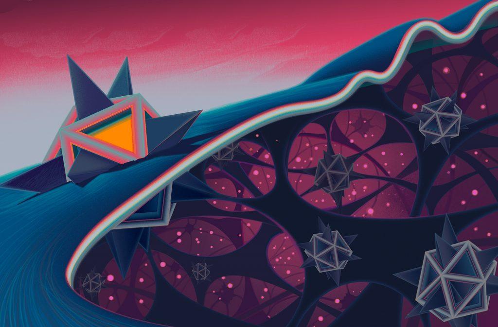 Una ilustracion del set 'Quantum Physics' de Sam Chivers