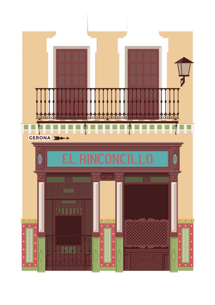 Ilustracion del bar El Rinconcillo, de Miguel Ferrera