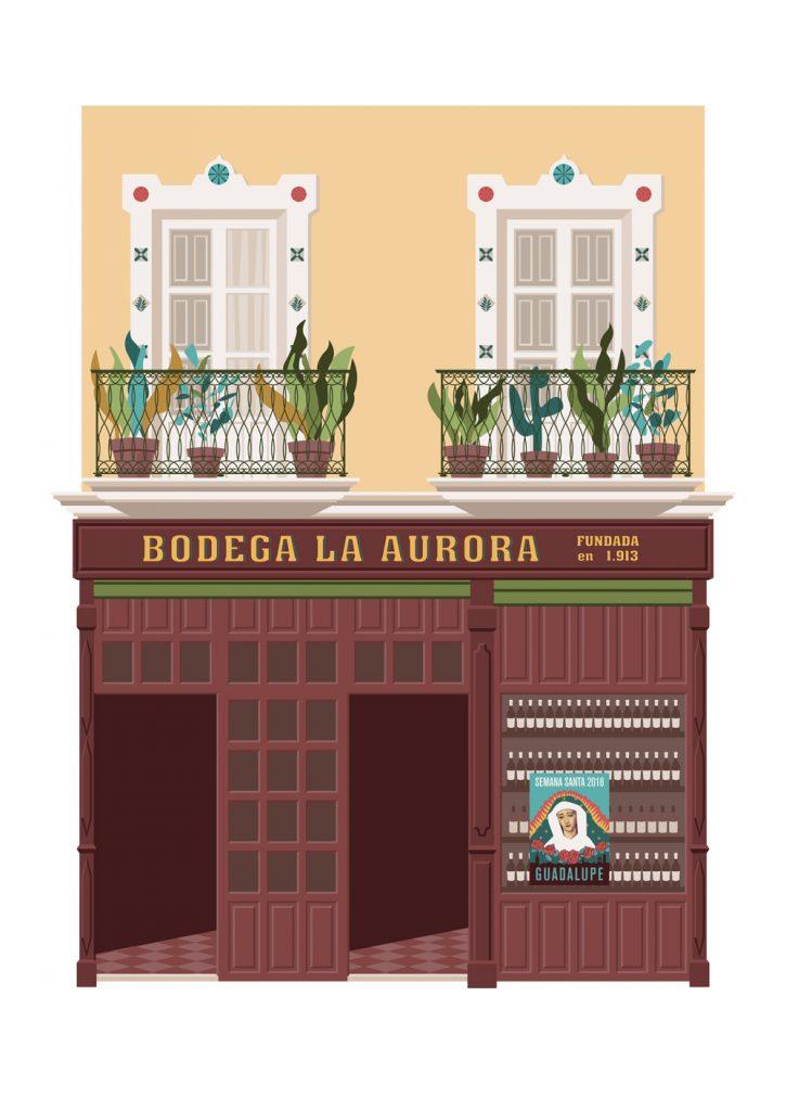 Ilustracion de la Bodega la Aurora, de Miguel Ferrera
