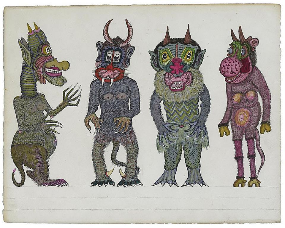 Cuatro monstruos de Josep Baque