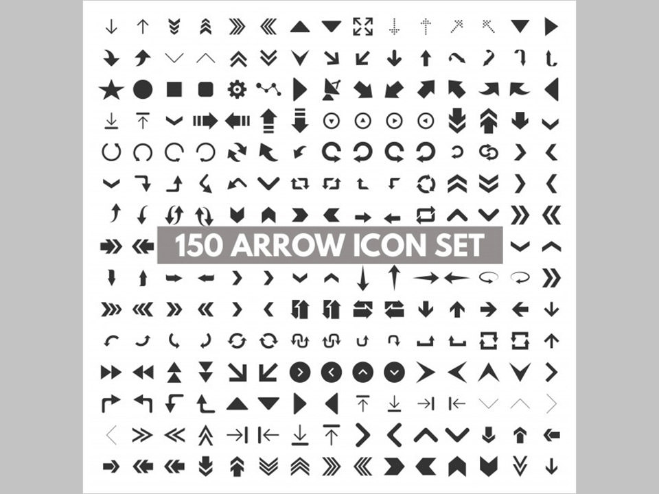 Los 150 Arrow Icons de Ibrandify