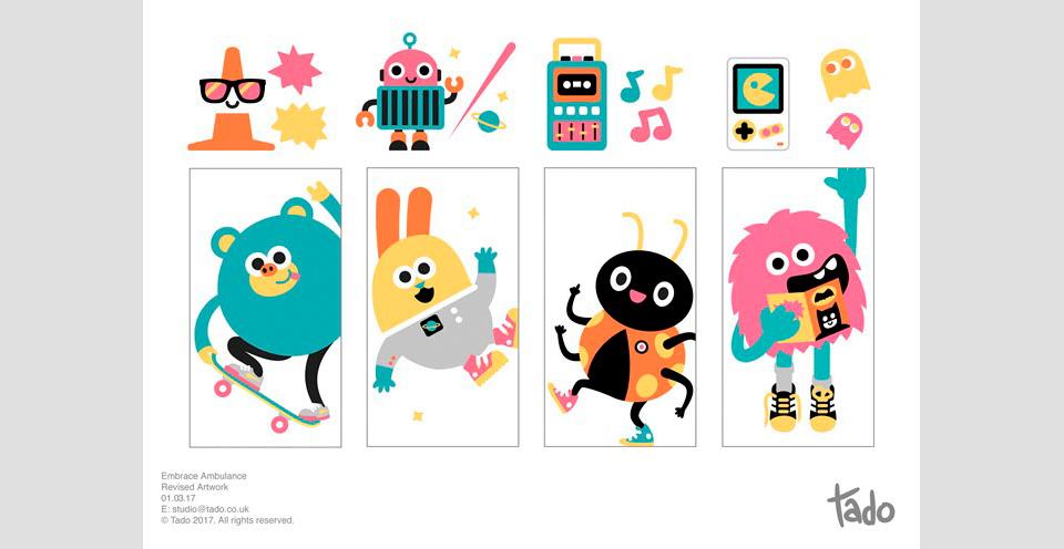 Varias de las ilustraciones disenadas por el estudio Tado