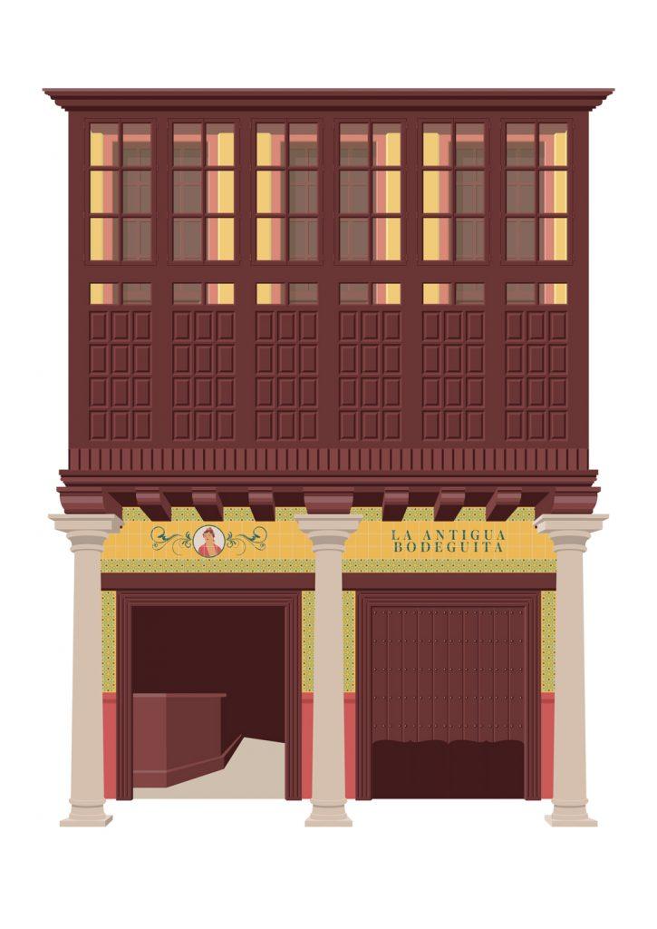 Ilustracion de La antigua bodeguita, de Miguel Ferrera