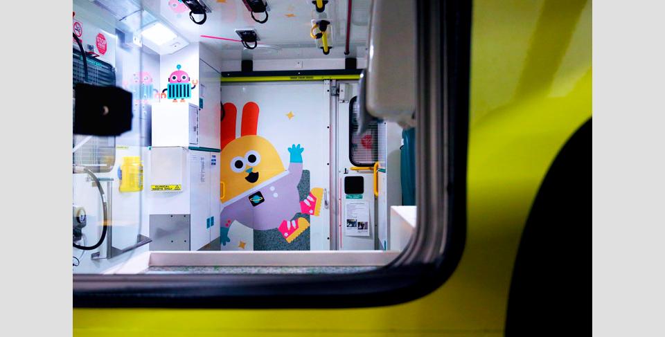 El interior de una ambulancia de Sheffield