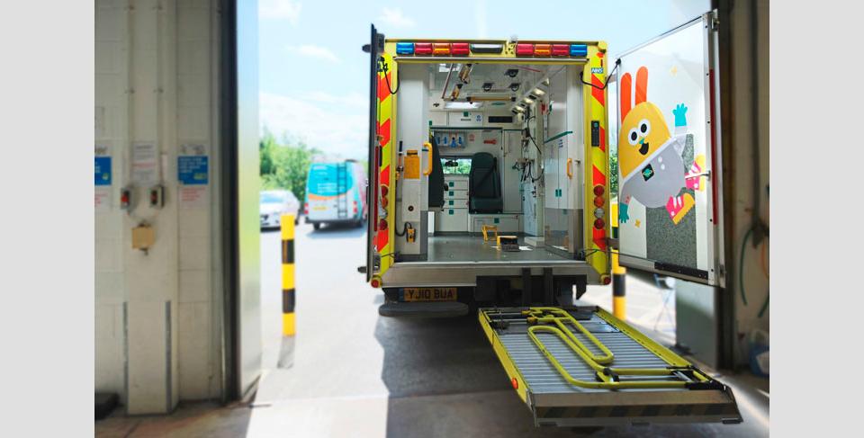 Una de las ambulancias de Sheffield