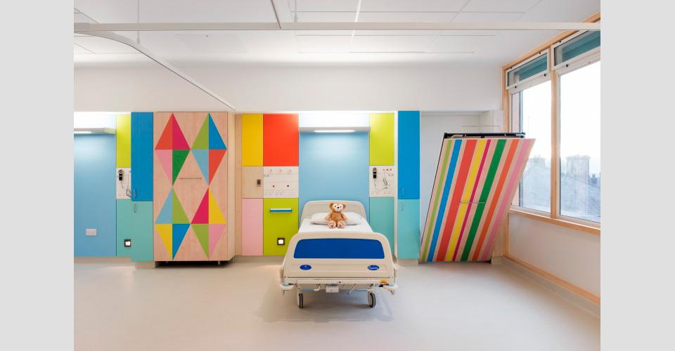 Una habitacion decorada del hospital de Sheffield